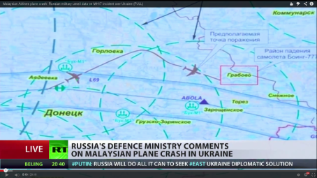 Screenshot from RDM mh17 deviation