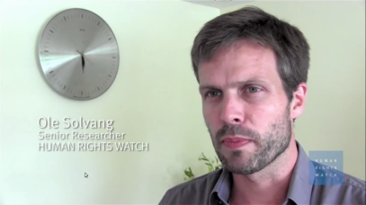 Ole Solvang of Human Rights Watch